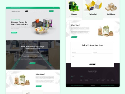 Goods Packaging Landing Page web ui hero image brand design minimalistic landing page ui responsive web design clean ui movers and packers products transfer deliver moving delivery service goods for sale distributor distributed distribution package packaging design packaging