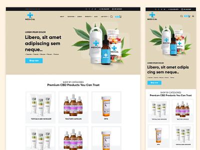 On-Demand Medicine & Health Care Products Delivery Portal uiux design marijuana responsive web design minimalistic responsive design landing page design minimalist clean ui