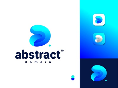 Abstract Domain Logo Idea combination mark uiux simple and clean 2020 logo domain abstract d a lettermark blue color illustrator gradient logo apps icon brand identity modern logo abstract logo logotype creative logo