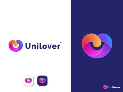 Unilover Logo Concept logofolio 2021 trandy 2021 branding agency lettermark monogram letter u unilover love uni pictorial mark combination mark simple and clean gradient logo logotype apps icon creative logo abstract logo modern logo brand identity