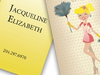 Cleaning Lady Business Card