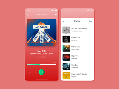Music Player Design design inspiration concept design inspiration mobile app design ui uidesign music player music app 2020 trends dailyuichallenge