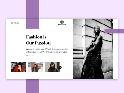 Fashion Webpage Hero Banner blue fashion dribbble dribbble best shot brand fashion brand fashion app ios app design ui design design inspiration inspiration 2020 trends dailyuichallenge