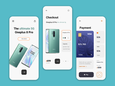 Oneplus App Concept Design concept design dailyui android app design iphone ios app design inspiration ux ui blue dribbble best shot dribbble brand identity ecommerce app brand design brand dailyuichallenge