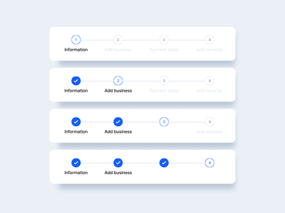 🏃♂️Progress Components onboarding indicator in progress components user interface dashboad signifier consultation single selection saas real project design clean affordance