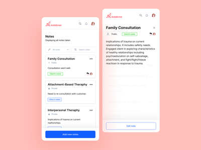 🎨 Notes responsive view mobile view writing notes app taking a note notes saving notes components user interface dashboad consultation signifier affordance saas real project design clean