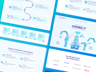 Crowd IT Website Overview webdesign components signifier ux user interface illustration logo ui design real project