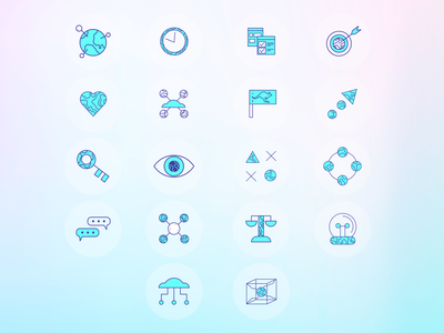 Crowd IT Iconography design vector real project icon set iconography branding illustration