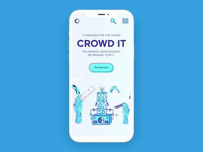 CrowdIT Mobile Web Design ui logo illustration user interface drupal webdesign website real project design