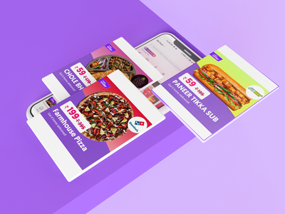 Food Delivery App_Creatives/Banners banners ecommerce food app typography ux ui illustration