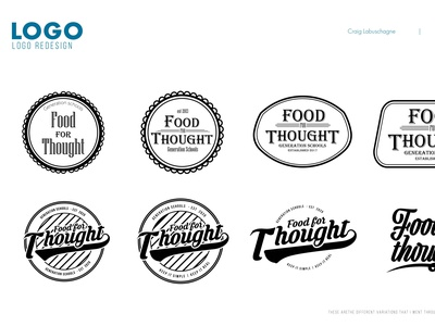 Food for thought vector typography branding logo design logo design