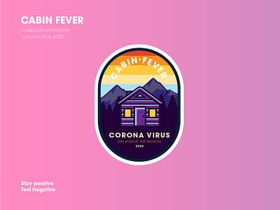 Cabin Fever graphic design illustrator flat illustration vector typography logo design logo design