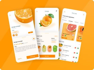 Fresh Fruits Mobile Apps Design ux mobile app design app ux design mobile ui design mobile app ui design ui design mobile apps design