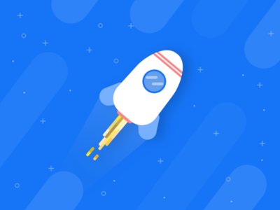 Cute space Rocket