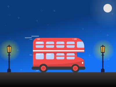 London bus - vehicle flat 2d