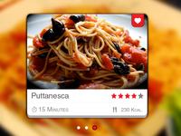 Recipe widget - Puttanesca