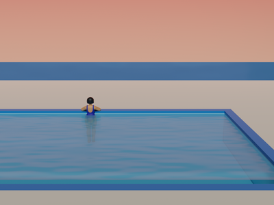 IDONY in the pool vacation summer swimming swiming swimmingpool graphicdesign fridony 3dart illustration design character blender3d 3dillustration 3dcharacter