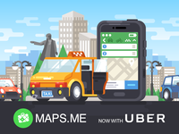 MAPS.ME + Uber