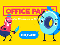 OFFICE PARTY | Animated stickerpack