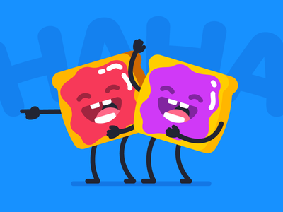 OFFICE PARTY | A Funny Jam Toast place sticker jam haha funny toast
