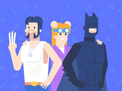 Cosplayers | VK hero superhero comix comicon cosplay wolverine batman vk.com vk