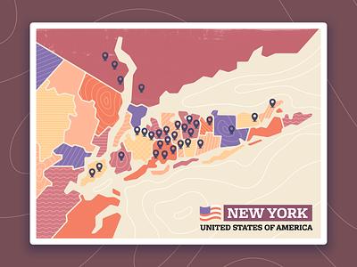 Map of New York State radikz vector usa grunge state new york map