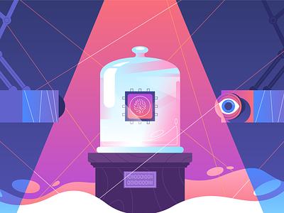 Cyber Security safe login autentification radikz illustration vector blockchain