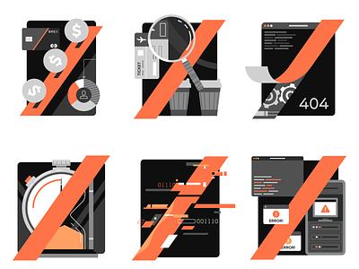Error Pages | Brex branding brand ecommerce finance business flat radikz vector illustration