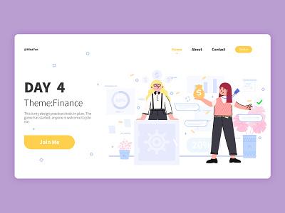 Finance finance business finance website web landing page design landing page vector ui illustration flat design