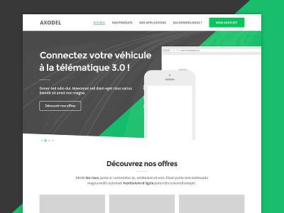 Axodel - Graphic redesign desktop flat website clean responsive template webdesign ui ux design