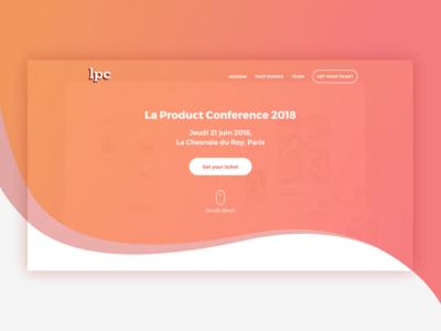 Product Management conference wave gradient color landing flat conference ui