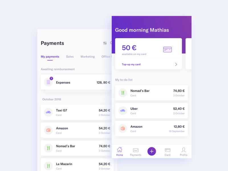 Expense app sketch interface banking ux ui mobile app expense
