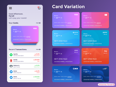 Digital Wallet (Card Design) spotify netflix adobe xd uiux flat branding minimal concept illustration app design payment card figma application mobile wallet digital ux ui