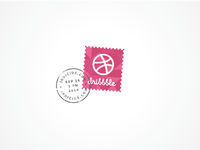 Hello Dribbble! debut stamp dribbble