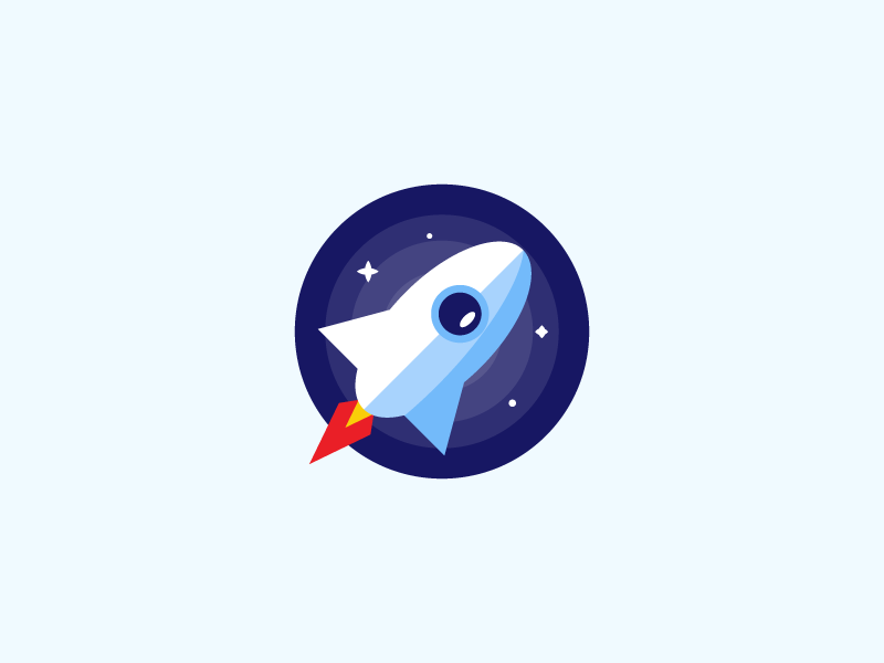 Bridge Newtonsoft Json space badge flat logo spaceship rocket icon branding illustration