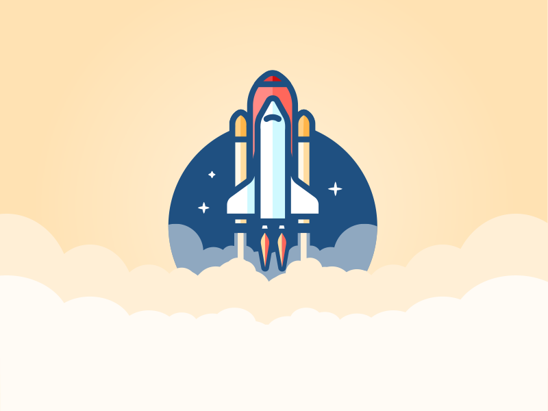 Space Shuttle icon spaceship rocket space shuttle illustration