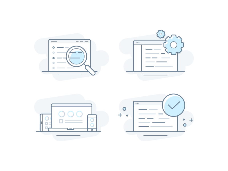 Icons for a new product website website ui icons illustration icon
