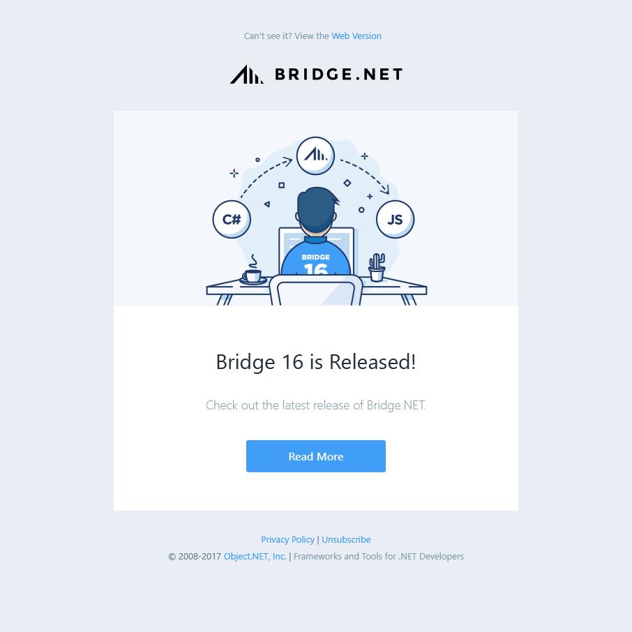 Bridge 16 newsletter