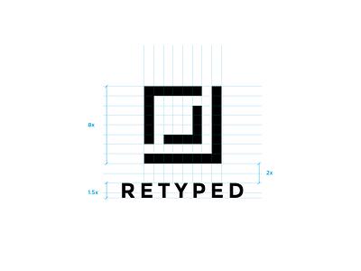 Retyped dotnet retyped iconic logo iconic brand design branding brand mark logo design logo