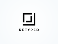 Retyped dotnet retyped iconic logo iconic brand design branding brand mark logo design logo