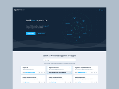 Retyped Landing Page