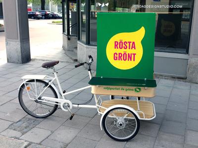 Campaign bike for Miljöpartiet