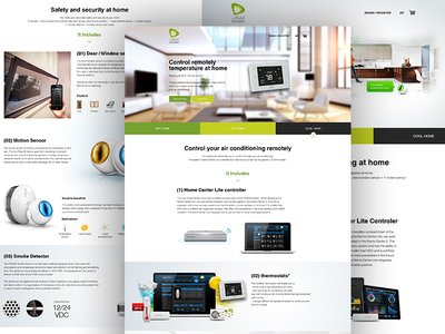Smart Home dubai pakistan landing page website web interface pixelzeesh uae home engine etisalat smart home