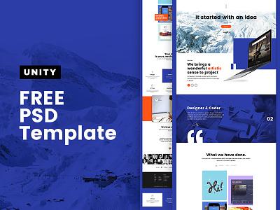Unity FREE PSD dubai pakistan free freepsd psd theme pixelzeesh website cleaning unity