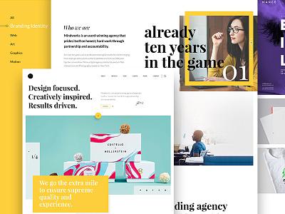 Mindworks ux ui white yellow dubai interface clean modern agency pixelzeesh mindworks