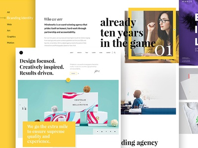 Mindworks ux ui white yellow dubai interface clean modern agency pixelzeesh mindworks