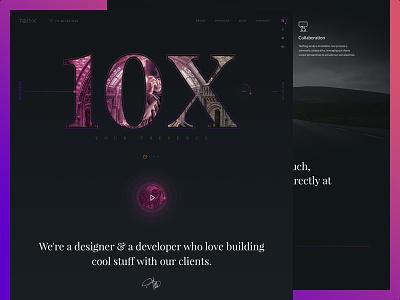 10X - Free PSD darklayout webinterface ux ui freepsd pixelzeesh 10x
