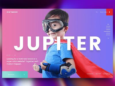 Invision-Jupiter creative dubai design studio pixelzeesh ux ui interface webinterface website design