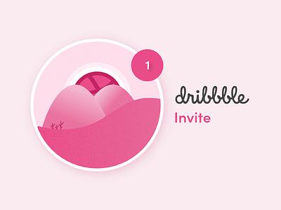 Dribbble Invite invites web websites pink invitation artist creative ux ui dubai designer zeeshan pixelzeesh dribble invite