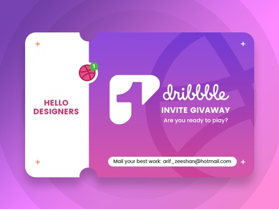 Dribbble Invite dribbble best shot creative agency design designer portfolio creative designer pixelzeesh card invitation invite design dribbble